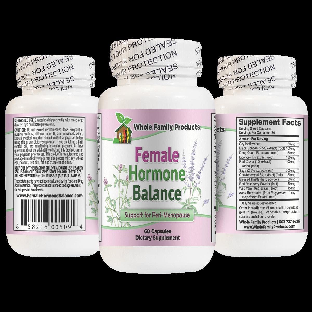 Female Hormone Balance Supplement 60 Capsules